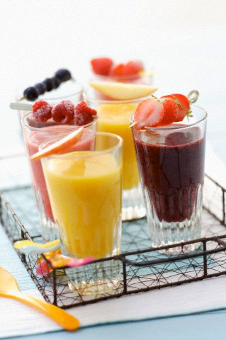 Fruit and berry smoothies